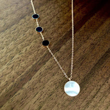 Load image into Gallery viewer, Black & Opal Rose Gold Necklace