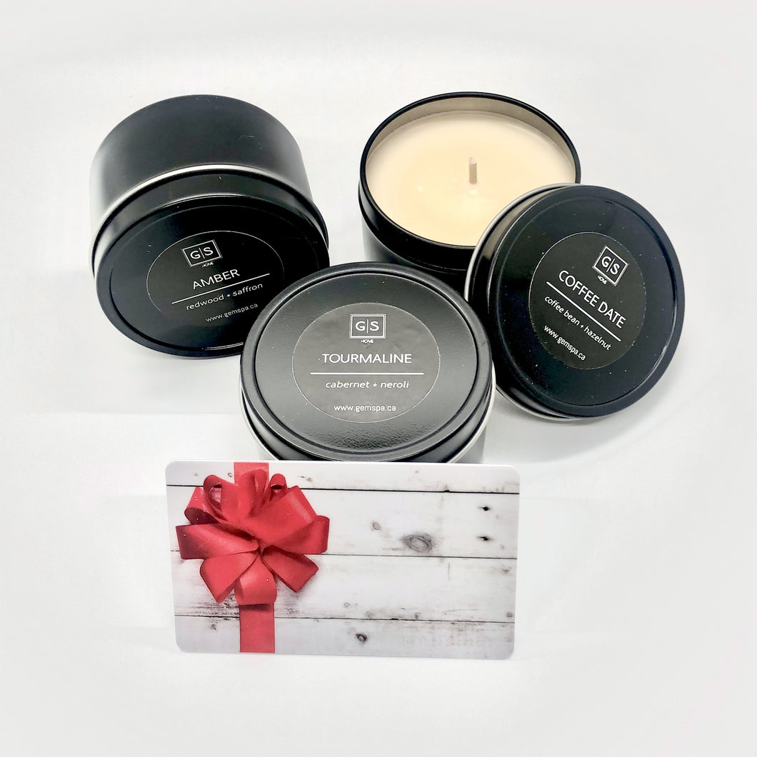 Gift Card + Candle Set