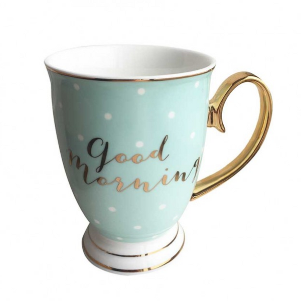 'Good morning' china mug