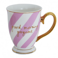 'Good morning gorgeous' china mug