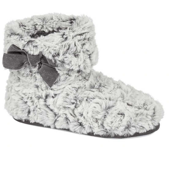 Faux fur slipper boots