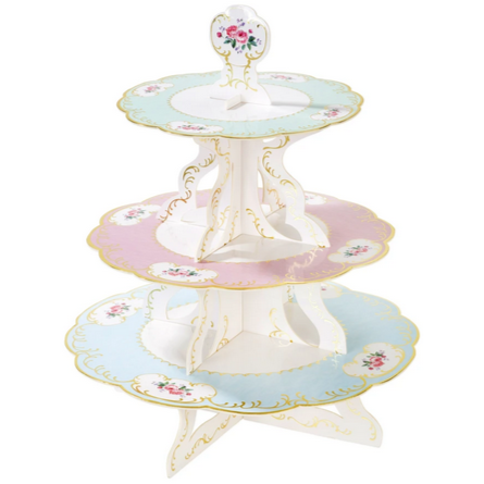Vintage chintz cake stand