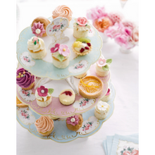 Load image into Gallery viewer, Vintage chintz cake stand
