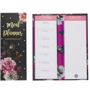 Meal planner & shopping list set - Blooms - Hunnypot House