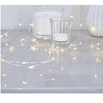 Wire LED lights - silver