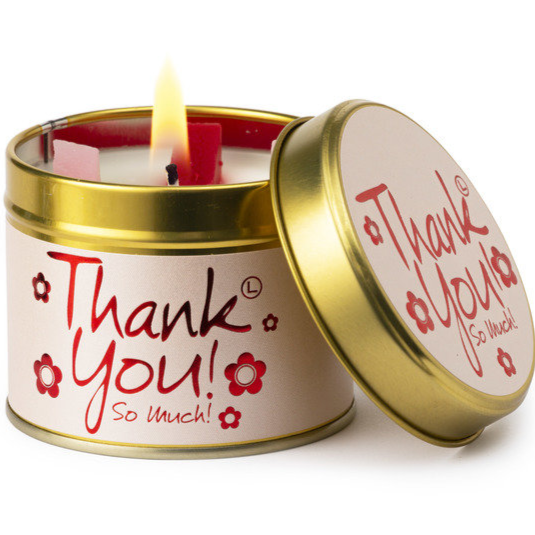 'Thank you' scented tin candle