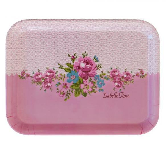 Melamine tray - pink floral - PRE-ORDER item - March - Hunnypot House
