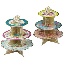 Load image into Gallery viewer, Vintage floral cake stand