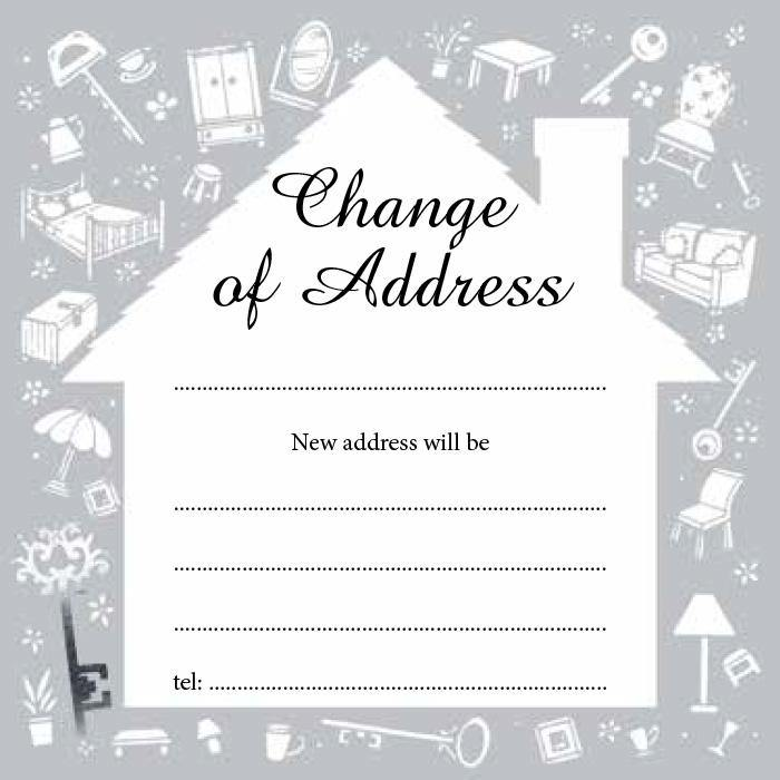 Change of address notecards