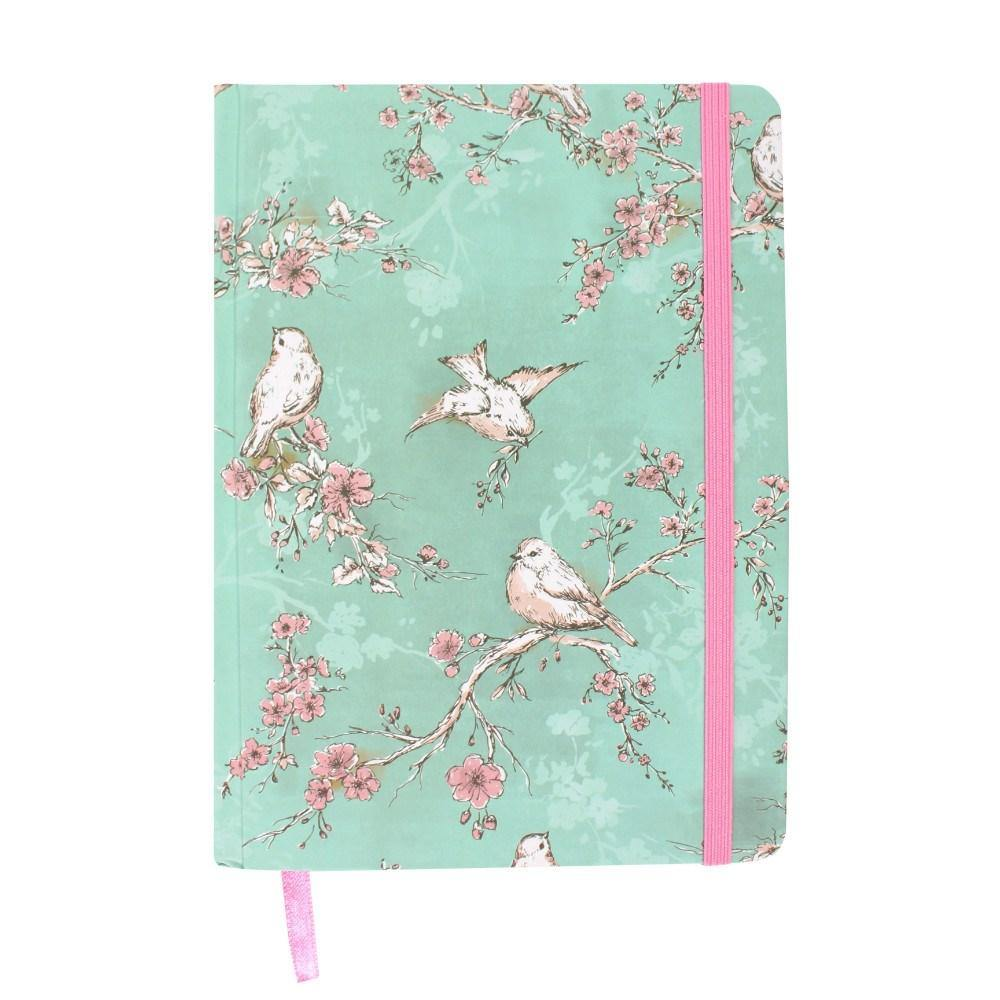 Birds & blossom A5 notebook - Hunnypot House