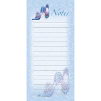 Magnetic list pad - blue shoes