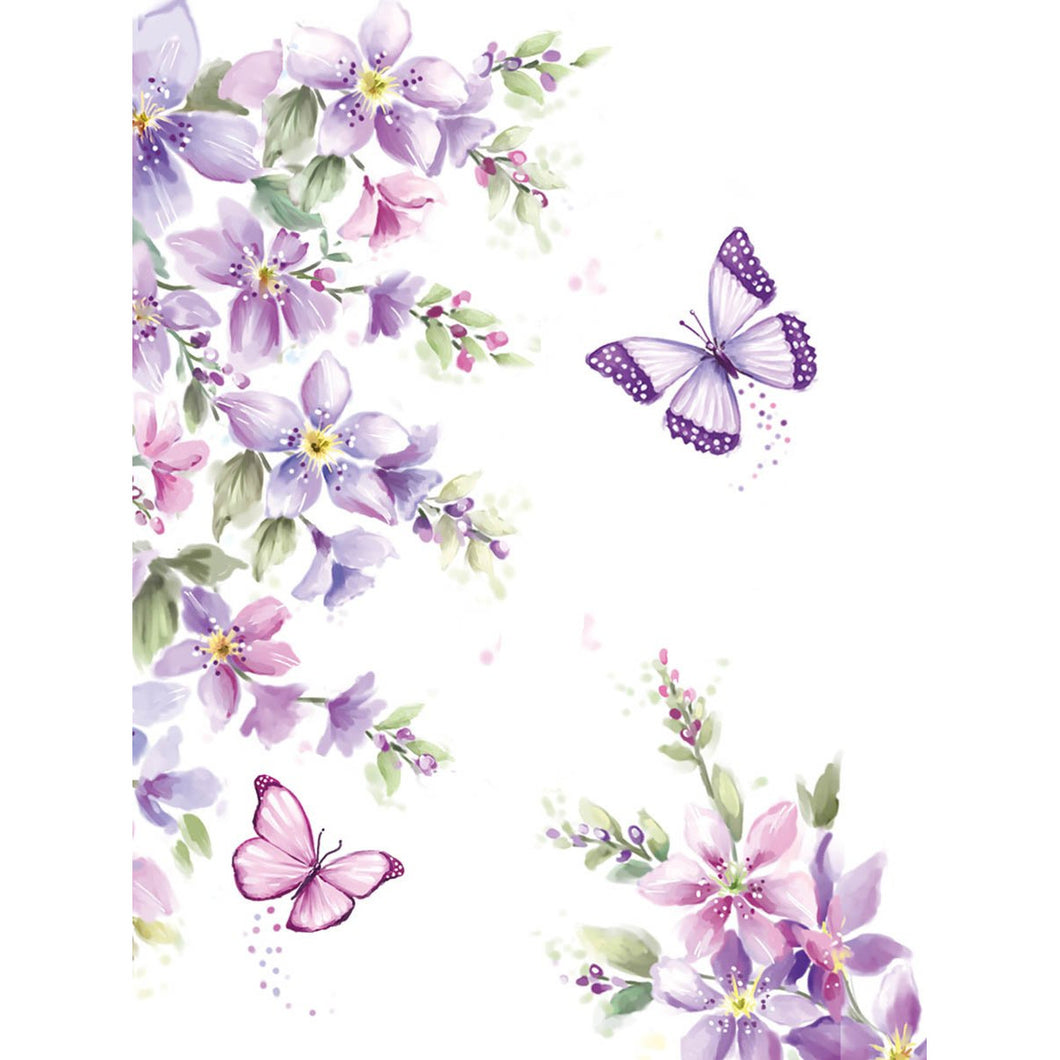 Pocket notepad - purple butterfly