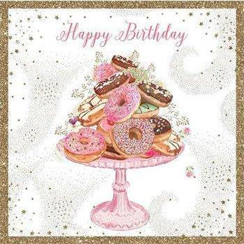 Greetings card - Happy Birthday - cakes