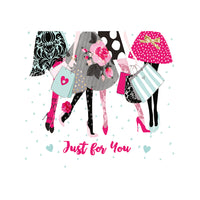 Notecards - 'Just for you' - Shopping