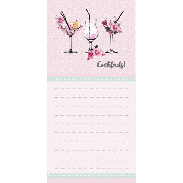Magnetic list pad - cocktails