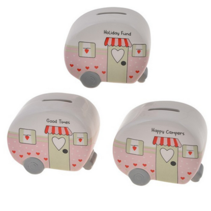 Ceramic caravan money box - Hunnypot House