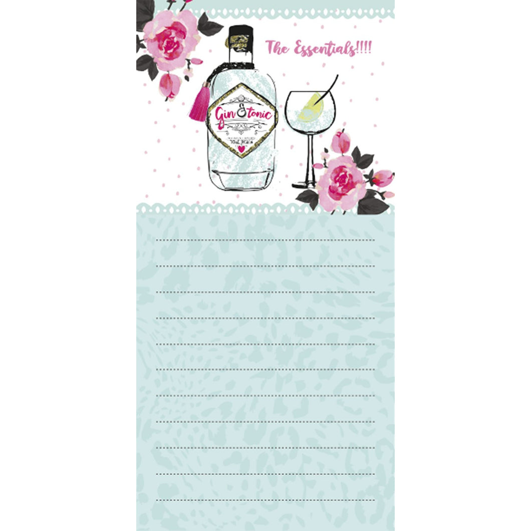 Magnetic list pad - gin & tonic