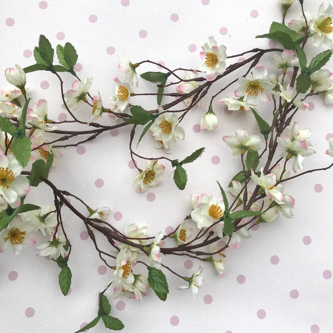 Flower garland - cherry blossom with leaves