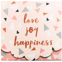 Notepad & pen - Love, joy & happiness