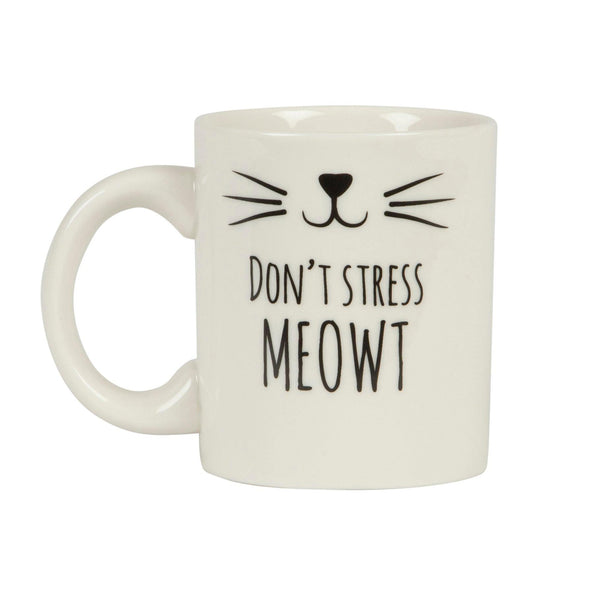'Don't stress meowt' mug
