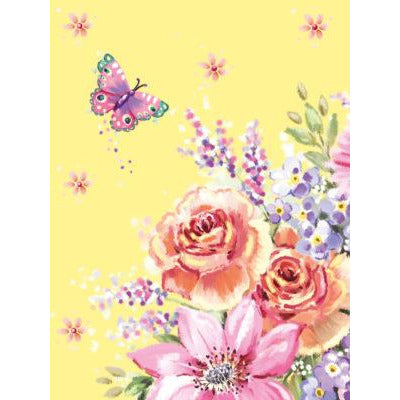 Pocket notepad - yellow floral