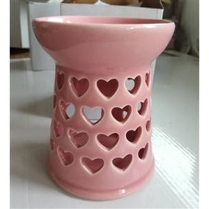 Heart cutout burner - pink