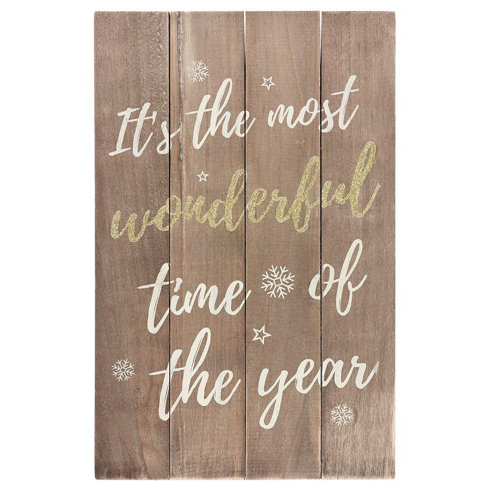 'Its the most wonderful time....' plaque
