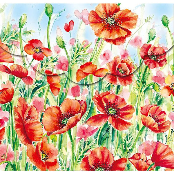 Notepad & pen - poppies