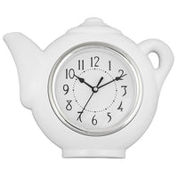 Teapot clock - white