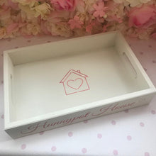 Load image into Gallery viewer, 'Hunnypot House' wooden tray - cream - pre-order for dispatch from 8th December