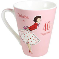 Vintage lady mug - 40th Birthday - PDP Vintage and Fashion