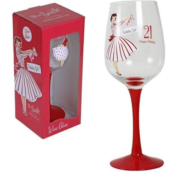 Vintage lady wine glass - 21st Birthday - PDP Vintage and Fashion