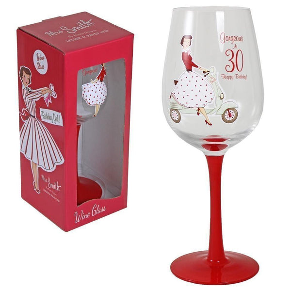 Vintage lady wine glass - 30th Birthday - PDP Vintage and Fashion