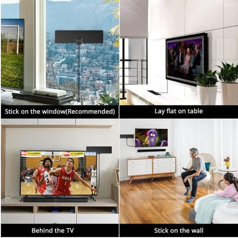 NEW! HDTV ANTENNA WITH AMPLIFIER SIGNAL BOOSTER INDOOR – Enchanted Antenna Tv Home Design on home tv transmitter, home fireplace, home tv wiring diagram, home floor construction,