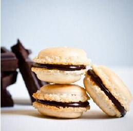Chocolate-Filled Macarons