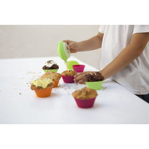 Lékué Muffin Cup Molds, Assorted Colors Muffin Cup Molds, Assorted Colors