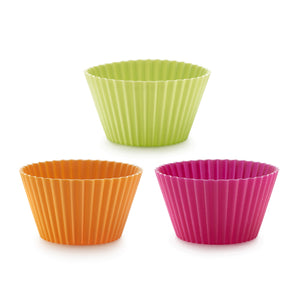 Lékué Big Muffin Cup Molds, Assorted Colors Big Muffin Cup Molds, Assorted Colors