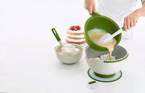 Lékué Mixing Bowl 3-Piece Set Color:Green