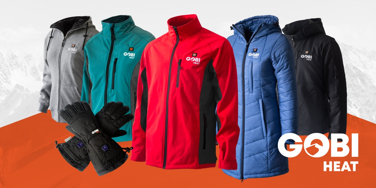 3 Heat Zones Sahara Women/'s Heated Jacket Machine Washable With Battery /& Charger Gobi Heat 10 hrs of Heat All Day Warmth