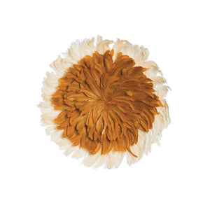 Feather Wall Decor Orange