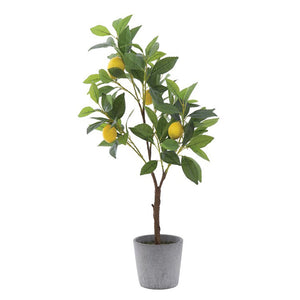 Potted Faux Lemon Tree