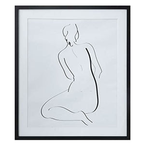 Framed Black & White Nude Sketch