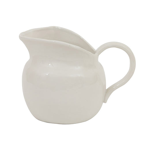 Stoneware Pitcher, White