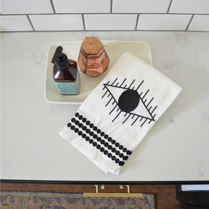 Eye of Ra Embroidered Tea Towel