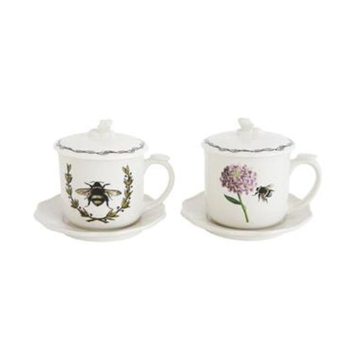 Tea Mug with Strainer Set of Two