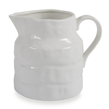 Stoneware Ribbed Pitcher
