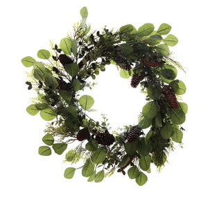 Eucalyptus leaf and Cedar Wreath