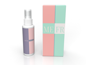 Mockup of Spray Mist bottle with a Custom Box made to fit the bottle