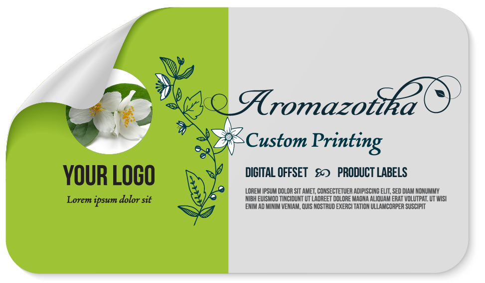 Sticker Label Sized for 1.7 to 2 Ounce Bottle/Jar- 2.17 x 3.5 inches. Custom Printed-Sticker Label-Gogo Packaging-Folding Carton Custom Printed Box-Product-CBD-Essential Oils-Cosmetics-lipstick-supplements