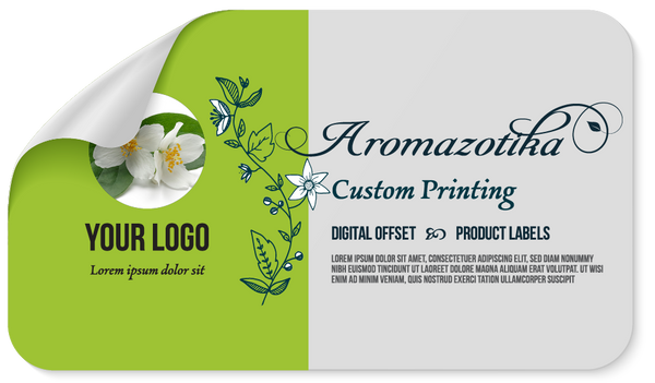 Sticker Label Sized for 1 Ounce Bottle/Jar- 1.2 x 3.5 inches. Custom Printed-Sticker Label-Gogo Packaging-Folding Carton Custom Printed Box-Product-CBD-Essential Oils-Cosmetics-lipstick-supplements